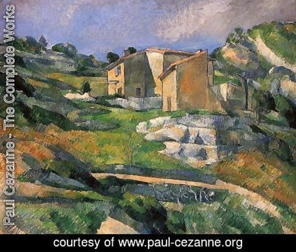 Paul Cezanne - Houses In Provence   The Riaux Valley Near L Estaque