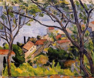 Paul Cezanne - L Estaque  View Through The Trees
