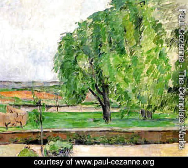 Paul Cezanne - Landscape At The Jas De Bouffin