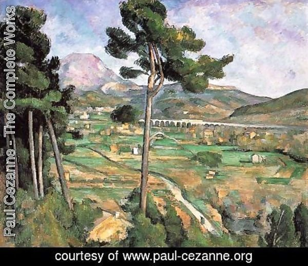 Paul Cezanne - Landscape With Viaduct   Mont Sainte Victoire