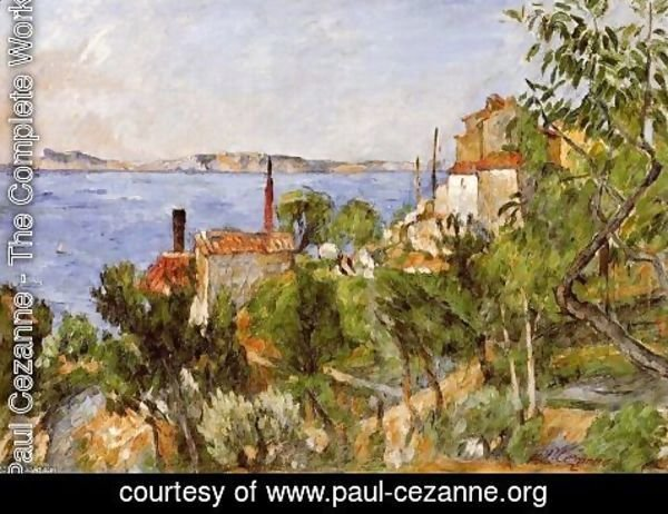 Paul Cezanne - Landscape  Study After Nature Aka The Seat At L Estaque