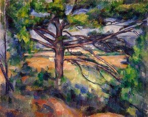 Paul Cezanne - Large Pine And Red Earth