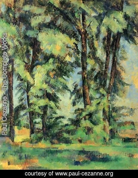 Paul Cezanne - Large Trees At Jas De Bouffan