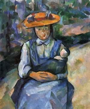 Paul Cezanne - Little Girl With A Doll