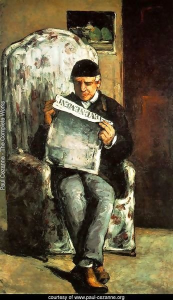 Louis Auguste Cezanne  Father Of The Artist  Reading  L Evenement
