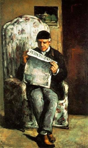 Paul Cezanne - Louis Auguste Cezanne  Father Of The Artist  Reading  L Evenement