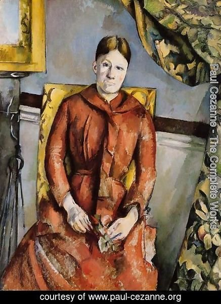 Paul Cezanne - Madame Cezanne In A Yellow Chair