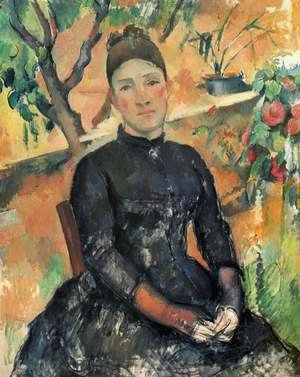 Paul Cezanne - Madame Cezanne In The Conservatory