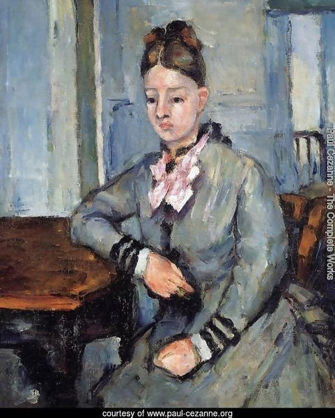 Madame Cezanne Leaning On Her Elbow