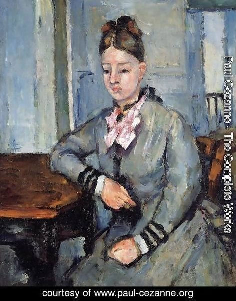 Paul Cezanne - Madame Cezanne Leaning On Her Elbow
