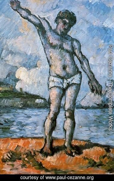 Paul Cezanne - Man Standing  Arms Extended