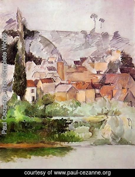 Paul Cezanne - Medan Chateau And Village