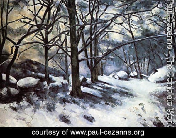 Paul Cezanne - Melting Snow  Fontainbleau