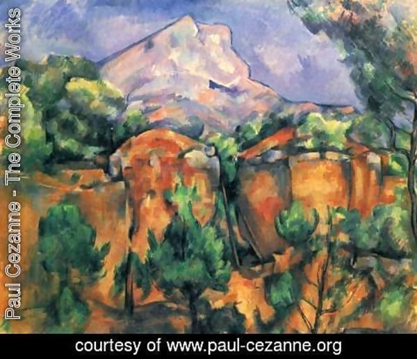 Paul Cezanne - Mont Sainte Victoire Seen From The Bibemus Quarry