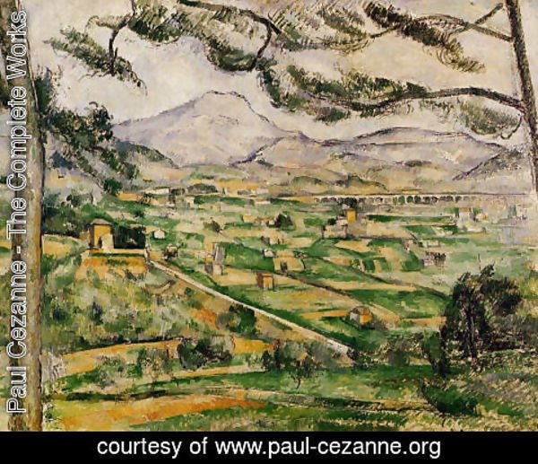 paul cezanne the complete works mont sainte victoire with large pine paul cezanne org