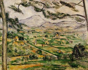 Paul Cezanne - Mont Sainte Victoire With Large Pine