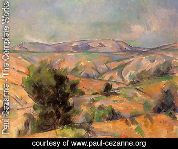 Paul Cezanne - Mount Sainte Victoire Seen From Gardanne