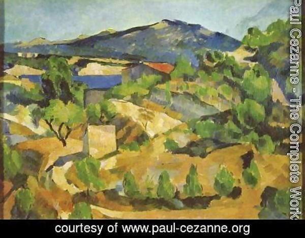 Paul Cezanne - Mountains In Provence (near L Estaque)