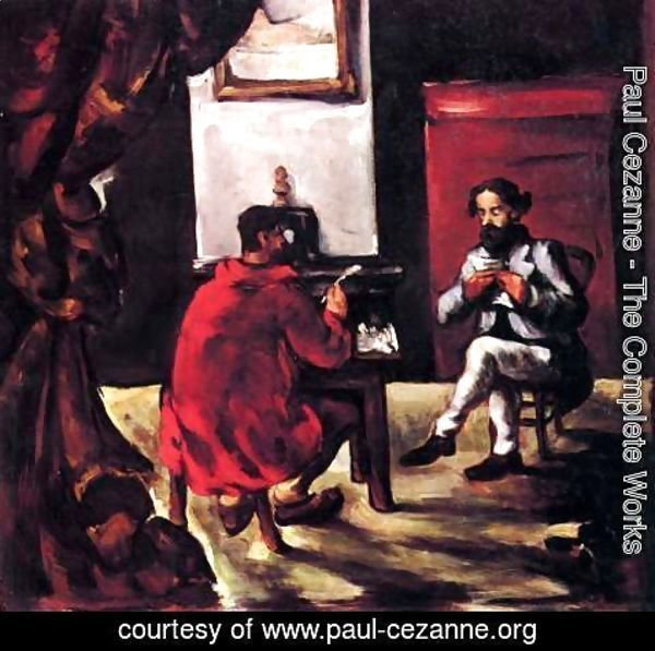 Paul Cezanne - Paul Alexis Reading At Zolas House