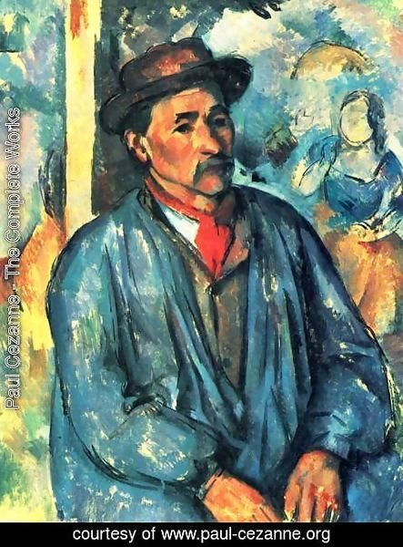 Paul Cezanne - Peasant In A Blue Smock
