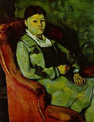 Paul Cezanne - Portrait Of Madame Cezanne