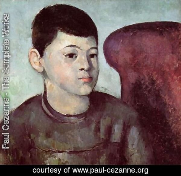 Paul Cezanne - Portrait Of Paul Cezanne  The Artists Son