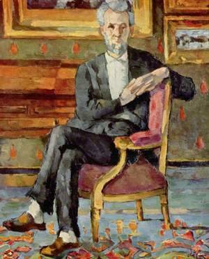 Paul Cezanne - Portrait Of Victor Chocquet  Seated