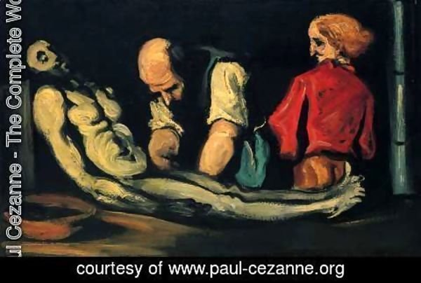 Paul Cezanne - Preparation For The Funeral Aka The Autopsy