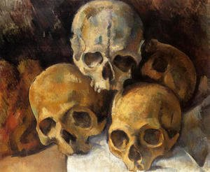 Paul Cezanne - Pyramid Of Skulls2