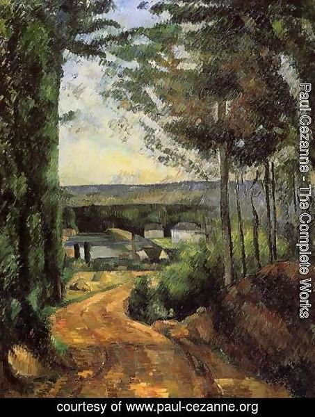 Paul Cezanne - Road  Trees And Lake