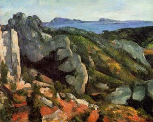 Paul Cezanne - Rocks At L Estaque
