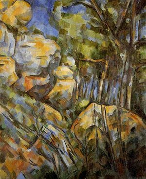Paul Cezanne - Rocks Near The Caves Above The Chateau Noir