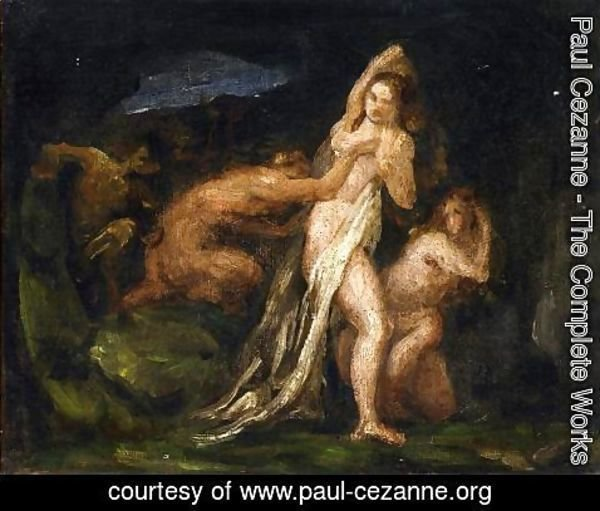Paul Cezanne - Satyres And Nymphs