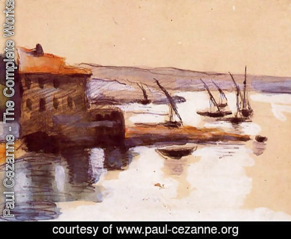 Paul Cezanne - Seascape
