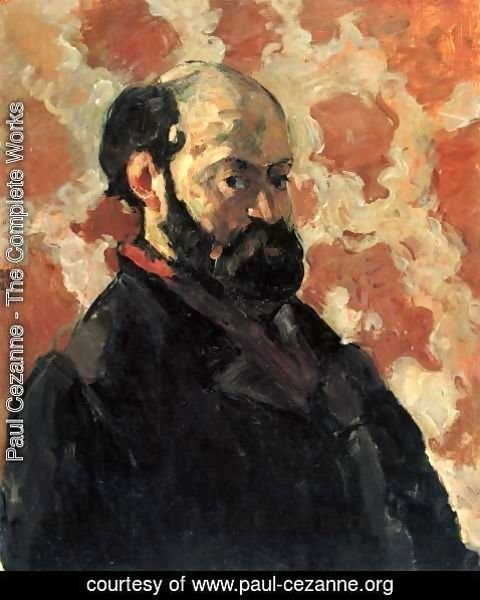 Paul Cezanne - Self Portrait With A Rose Background