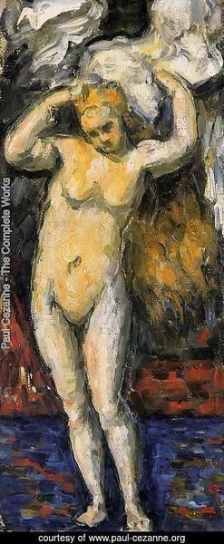 Paul Cezanne - Standing Bather  Drying Her Hair
