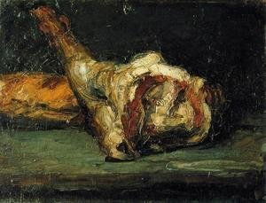 Paul Cezanne - Still Life   Bread And Leg Of Lamb