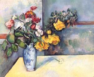 Paul Cezanne - Still Life   Flowers In A Vase