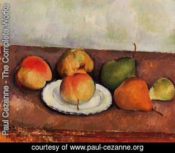 Paul Cezanne - Still Life   Plate And Frui