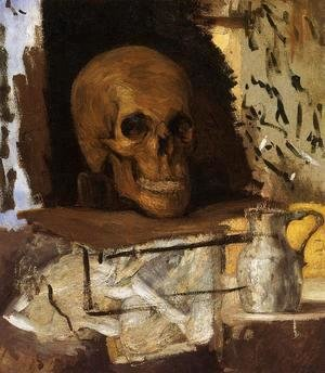 Paul Cezanne - Still Life Skull And Waterjug