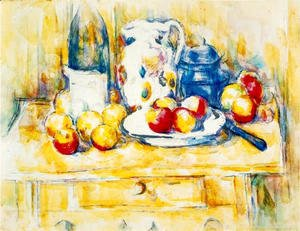 Paul Cezanne - Still Life With Apples  A Bottle And A Milk Pot