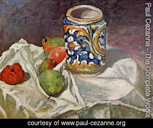 Paul Cezanne - Still Life With Italian Earthenware