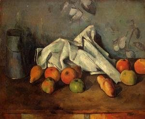 Paul Cezanne - Still Life With Milk Can And Apples