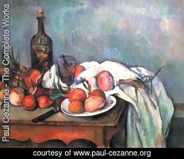 Paul Cezanne - Still Life With Red Onions