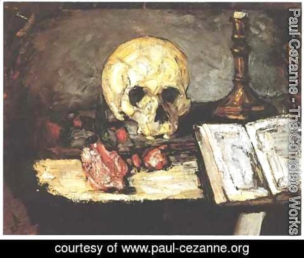 Paul Cezanne - Still Life With Skull And Candlestick