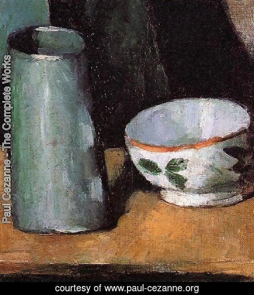 Still Life  Bowl And Milk Jug