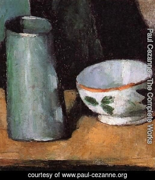 Paul Cezanne - Still Life  Bowl And Milk Jug
