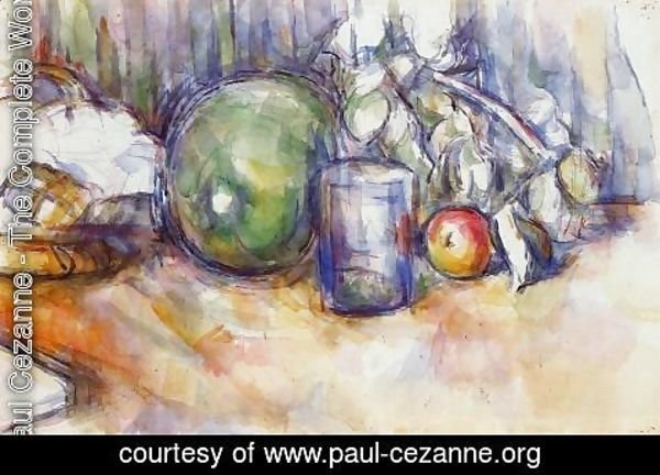 Paul Cezanne - Still Melon With Green Melon