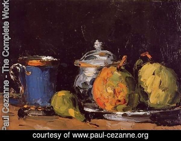 Paul Cezanne The Complete Works Sugar Bowl Pears And Blue Cup