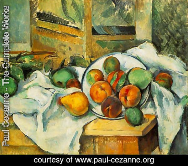 Paul Cezanne - Table  Napkin And Fruit